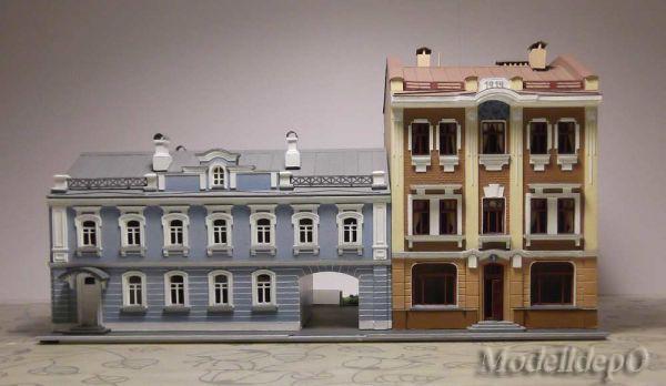 Модульный город. Модуль с двумя жилыми домами.